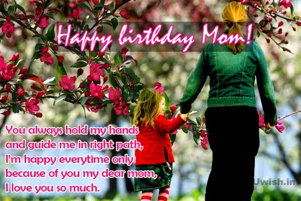 you always hold my hands and guide me in right path, i'm happy every time only because of you my dear mom...
