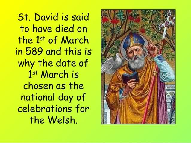 1 March St David's Day Wishes Image