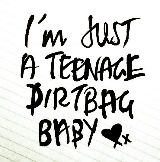 5Sos Quotes I'm just a teenage dirt bag baby