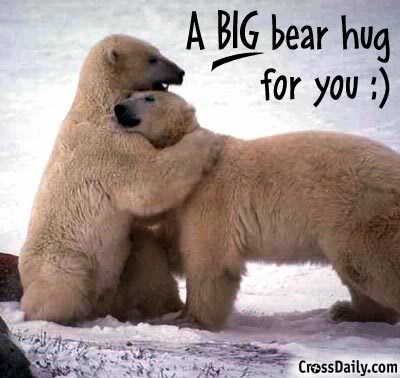 A big bear hug for you Hug Meme
