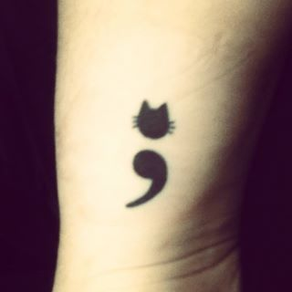 Amazing Semicolon Tattoo Design For Girls