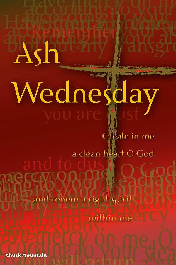 Ash Wednesday Best Wishes Image