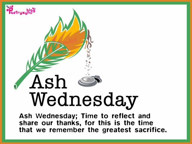 Ash Wednesday Greetings Message