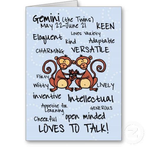 Astrology Sayings Gemini the twins may 22 June