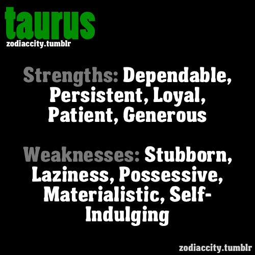 Astrology Sayings strengths dependable persistent loyal patient