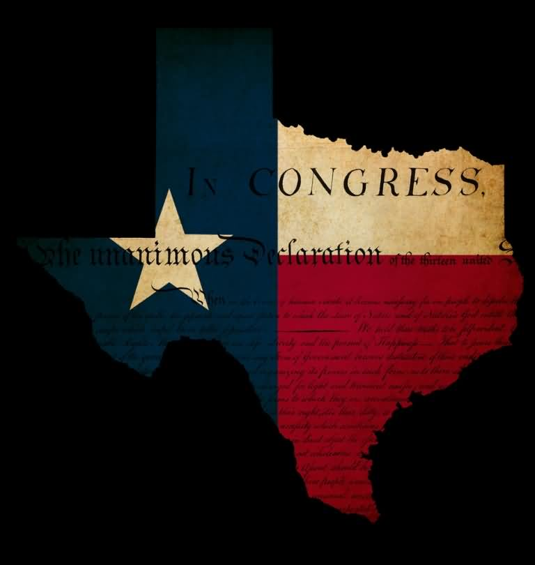 Best Wishes Happy Texas Independence Day Image