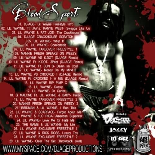 Blood Gang Quotes blood sport ill Wayne freestyle intro