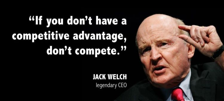 Business Quotes if you don't have a competitive advantage don't complete