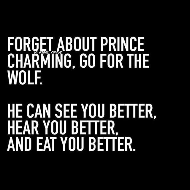 Charming Quotes forget about prince charming go for the wolf