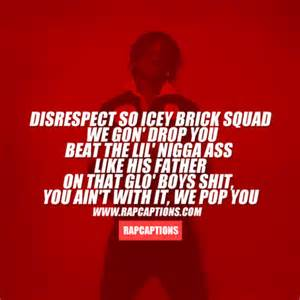 Chief Keef Quotes disrespect to icey brick squad we gon drop you beat the lil
