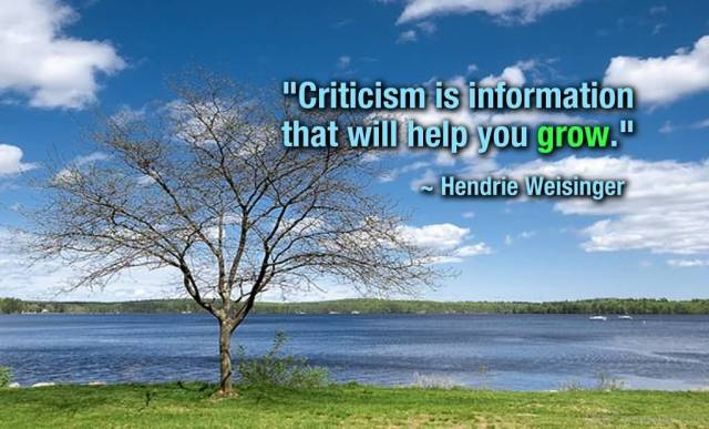 Criticize sayings criticism is information