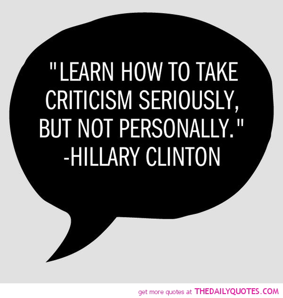 Criticize sayings learn how to take criticism seriously but