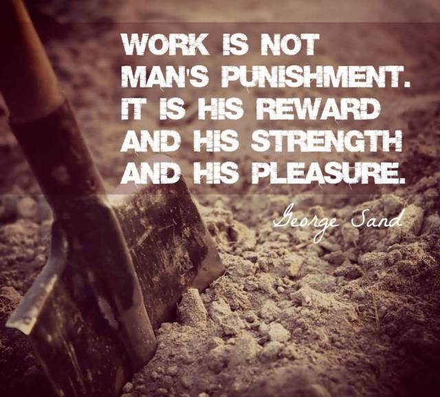 Day Quotes work is not man's punishment it is his reward