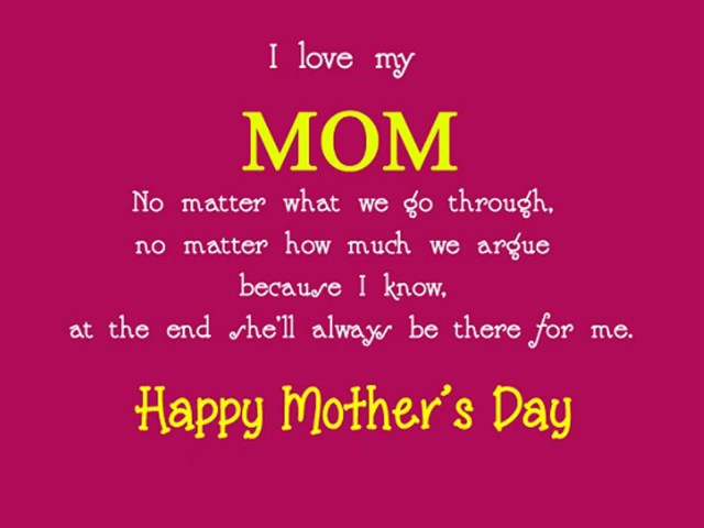 Day sayings i love my mom no matter what we go