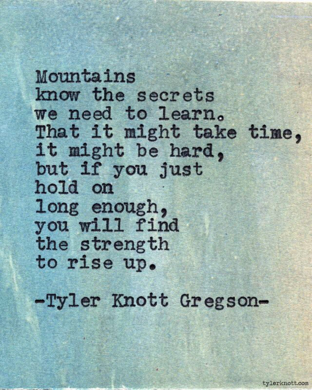 Depression Recovery Quotes mountains know the secrets we