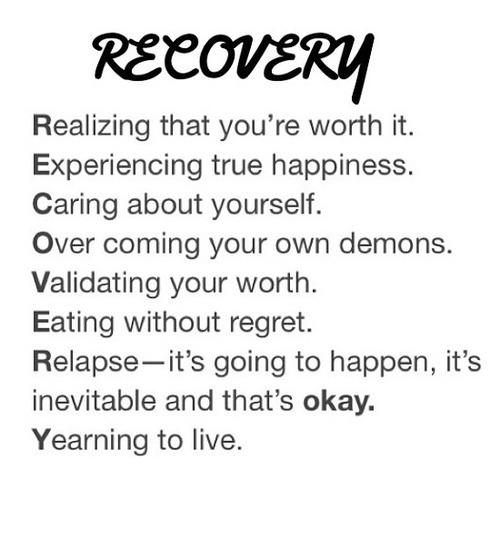 Depression Recovery Quotes realizing that you're worth it