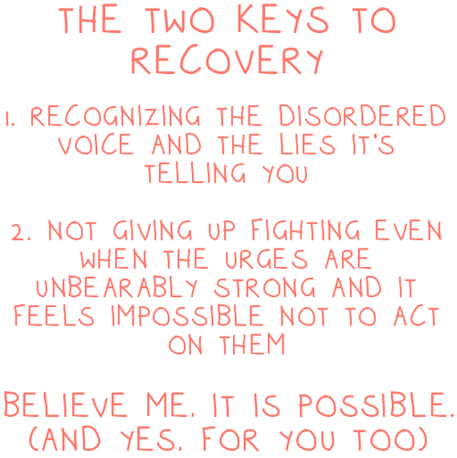 Depression Recovery Quotes the two keys to recovery