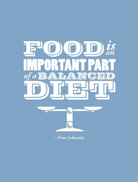 Diet sayings food important part of a balanced diet