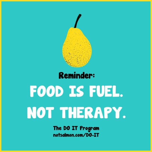 Diet sayings remainder food is fuel not therapy
