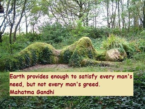 Earth Day Quotes earth provides enough to satisfy every man