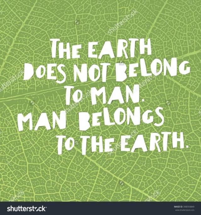 Earth Day Quotes the earth does not belong to man belongs to the earth