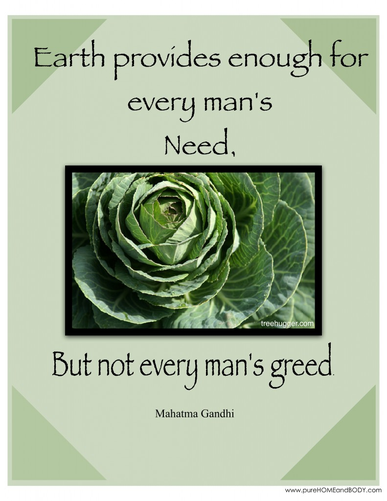 Earth Day Sayings earth provides enough for every man's need