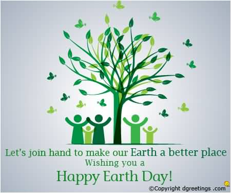 Earth Day Sayings lets join hand to make our