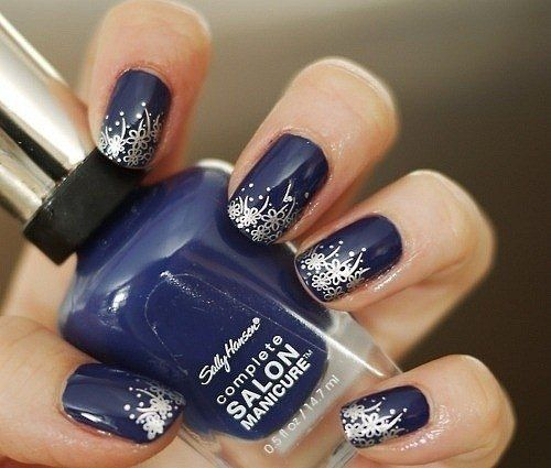 82 gorgeous blue silver nails art designs ideas images picsmine fabulous blue and silver nails with great tip prinsesfo Images