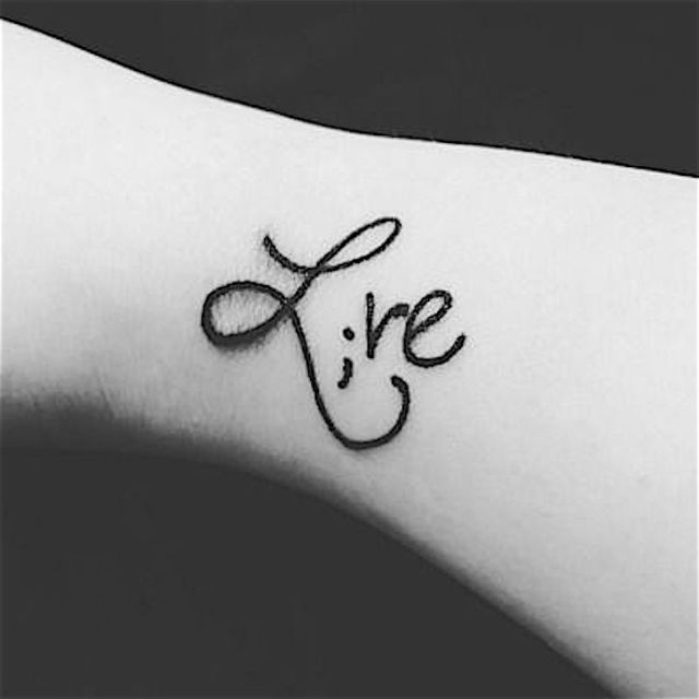 Fantastic Semicolon Tattoo Design For Girls