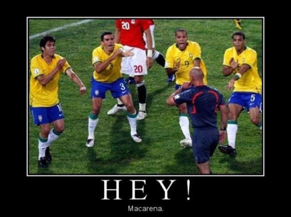 Football Meme hey macarena