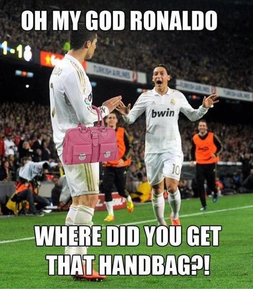 Football Memes oh my god ronaldo where did you get that handbag