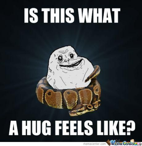 Funny Hug Meme Is this what a hug feels like