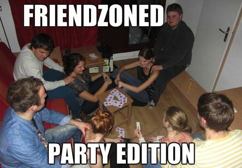 Funny Party Meme Friend zoned party edition