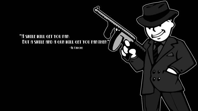 Games Quotes a smile will get you far but a smile and a gun will get you farther
