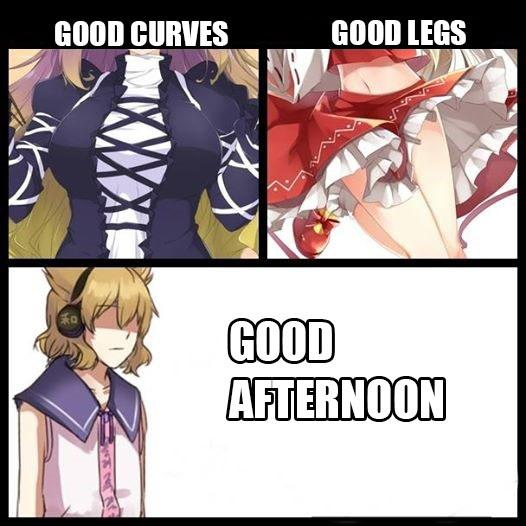 Good Afternoon Meme good curve good legs good afternoon
