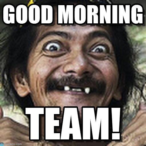 Good Morning All Meme : Good morning team memes picsmine