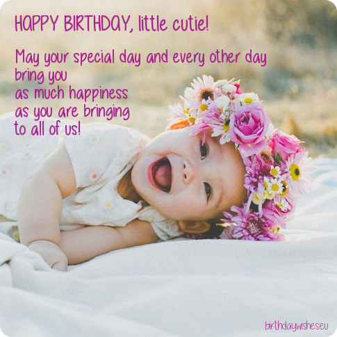 Happy Birthday Sayings happy birthday little cutie may