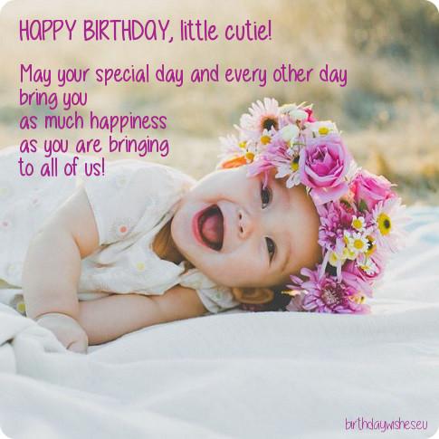 Happy Birthday Sayings happy birthday little cutie may
