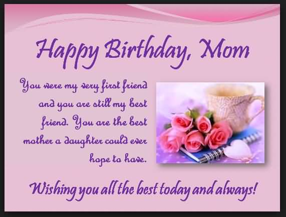 Happy Birthday Sayings happy birthday mom you were my