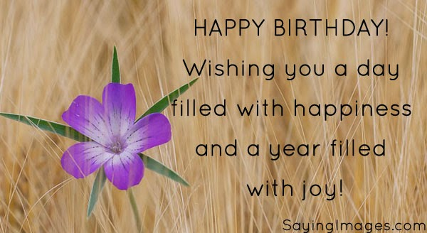 Happy Birthday Sayings happy birthday wishing you a day filled with