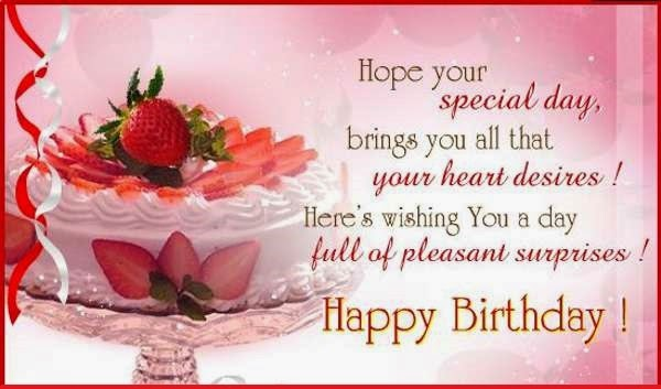 Happy Birthday Sayings hope your special day