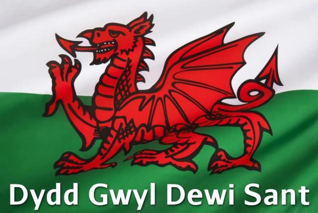 Happy St David's Day Dragon Image
