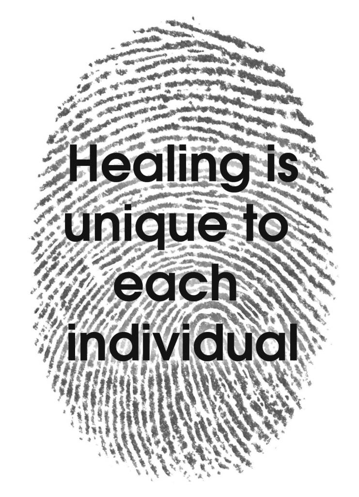 Healing Quotes healing is unique to each individual