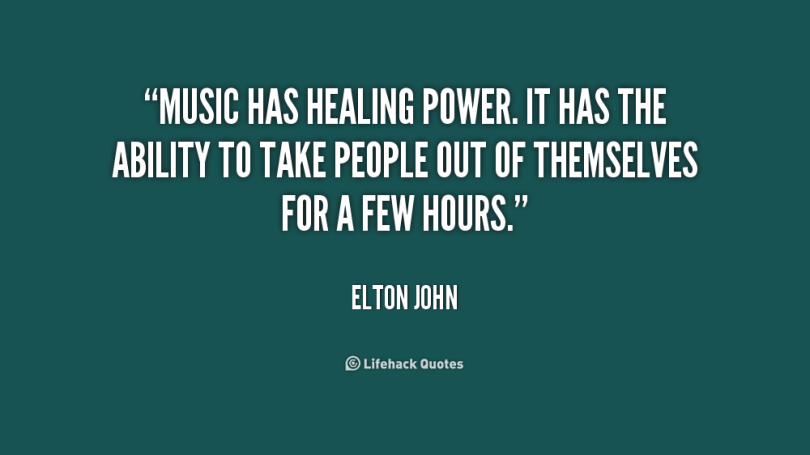 Healing Quotes music has healing power