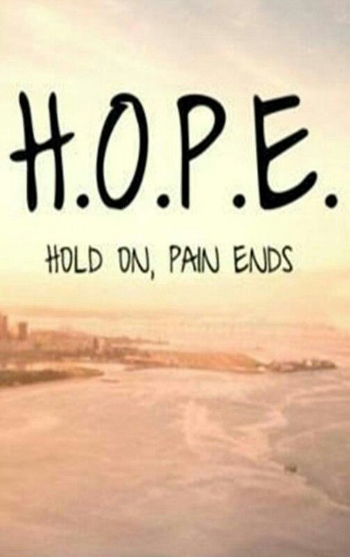 Hope Quotes hope hold on pain ends