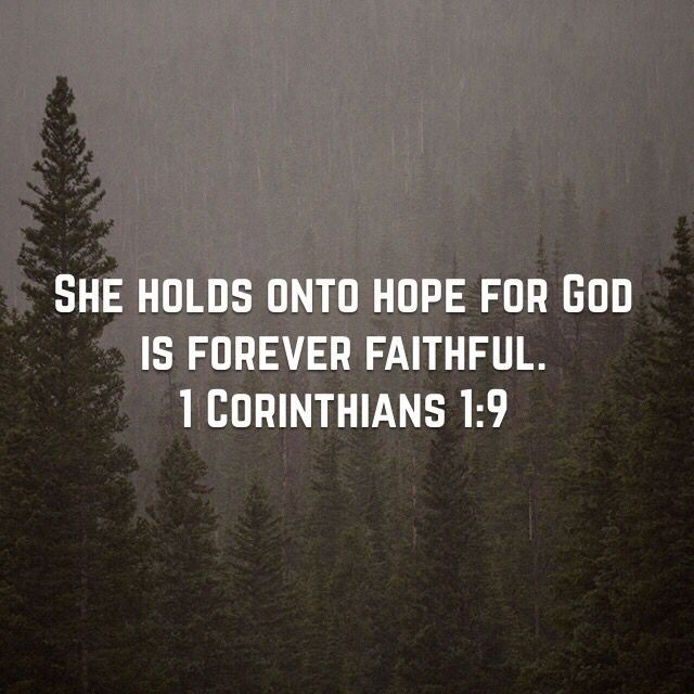 Hope Quotes she holds onto hope for god is forever faithful