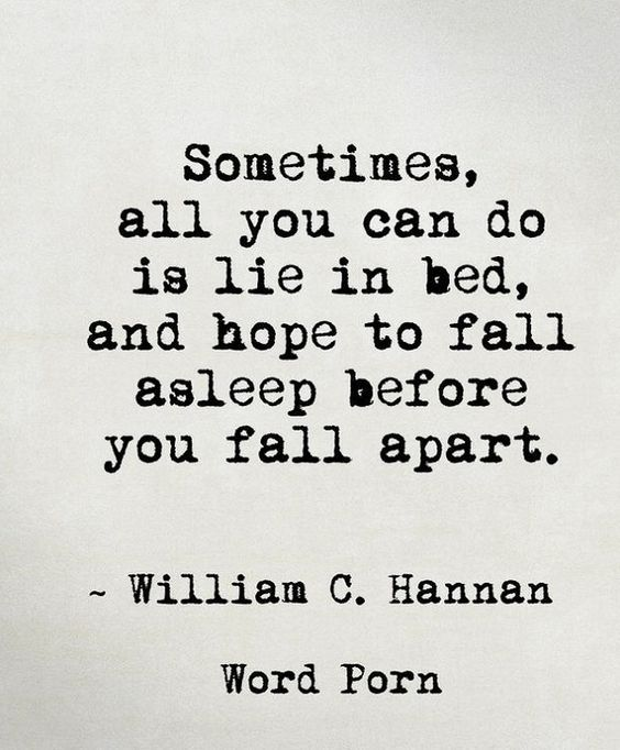 Hope Quotes sometimes all you can do is lie in bed and hope to fall asleep