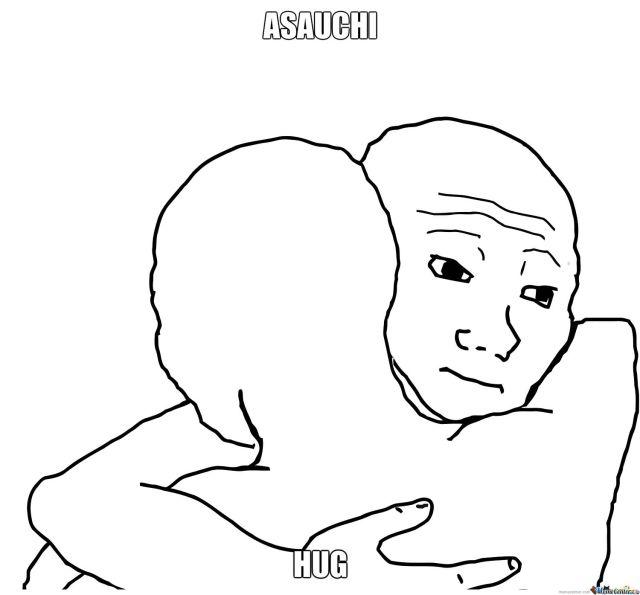Hug Memes asauchi hug