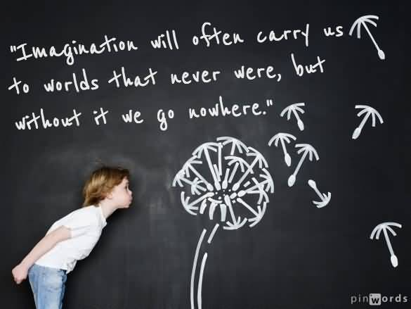 Imagination sayings imagination will often carry us to world that never were