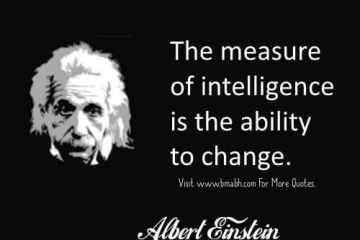 Intelligence Quotes the measute of intelligence is the ability to change